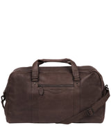 'Snowdon' Cocoa Leather Holdall image 1