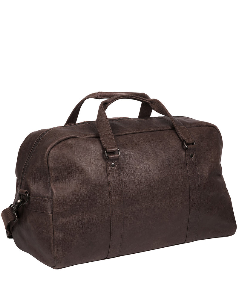 'Snowdon' Cocoa Leather Holdall image 3