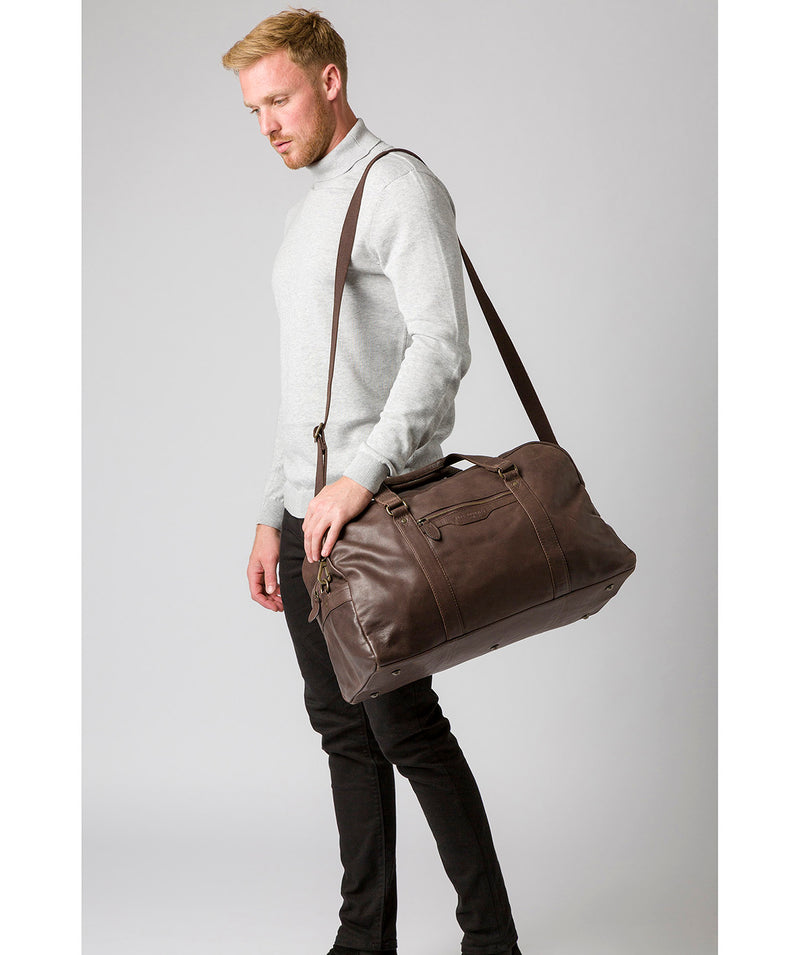 'Snowdon' Cocoa Leather Holdall image 2