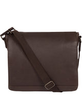 'Peak' Cocoa Leather Messenger Bag image 1