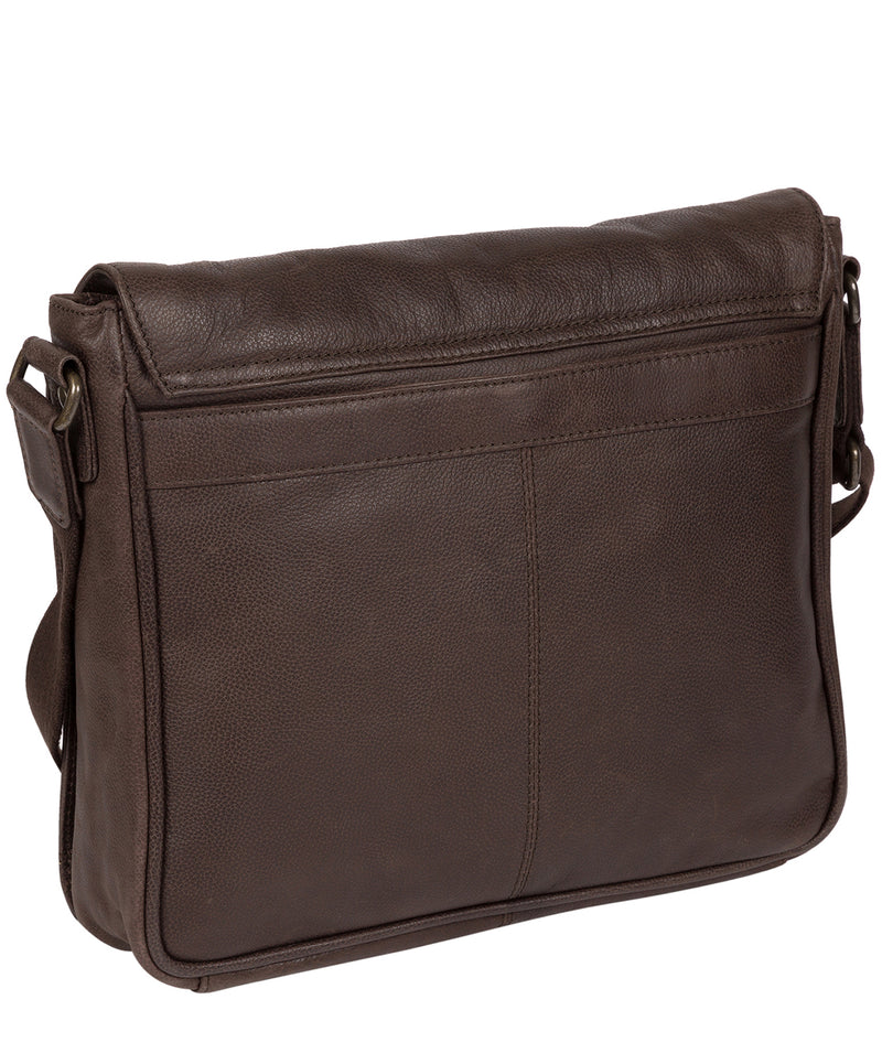 'Peak' Cocoa Leather Messenger Bag image 3