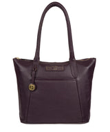 'Arundel' Plum Leather Handbag image 1