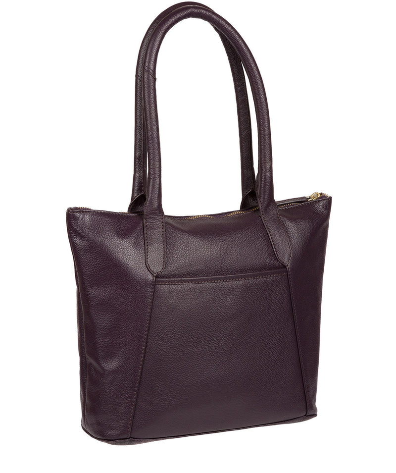 'Arundel' Plum Leather Handbag image 3