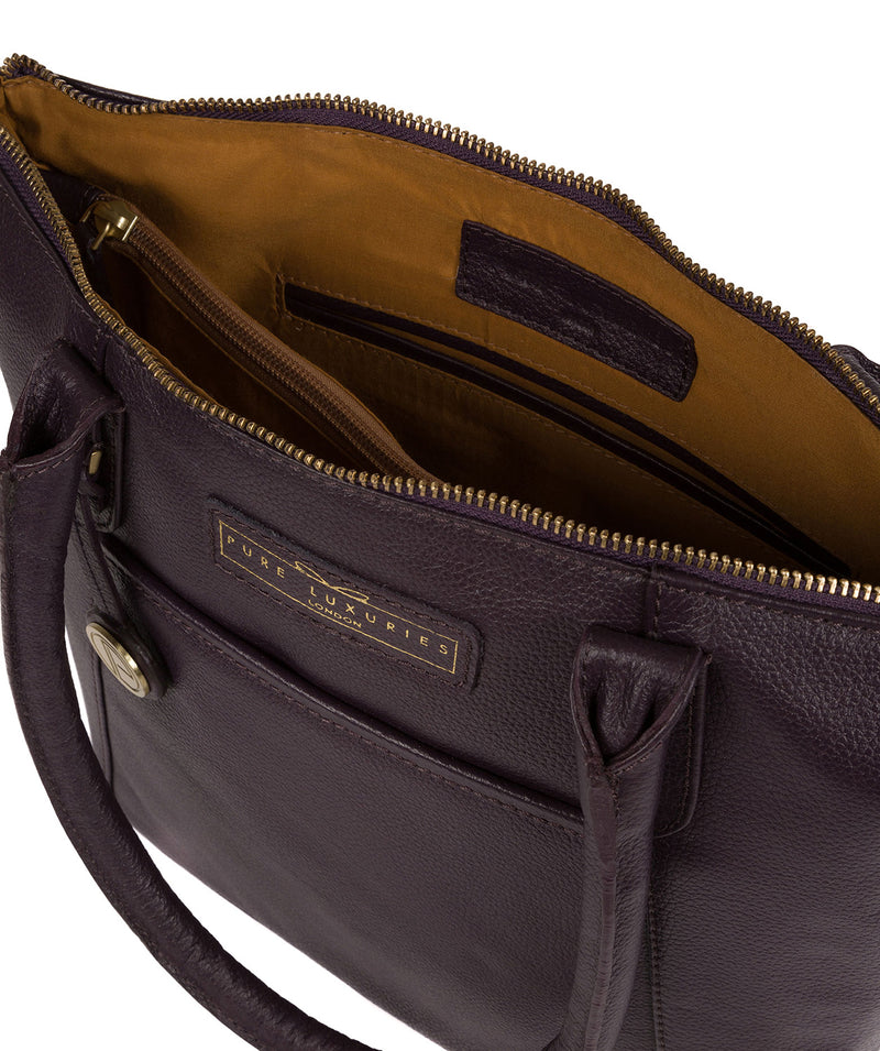 'Arundel' Plum Leather Handbag image 4