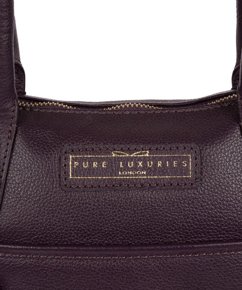 'Arundel' Plum Leather Handbag image 5