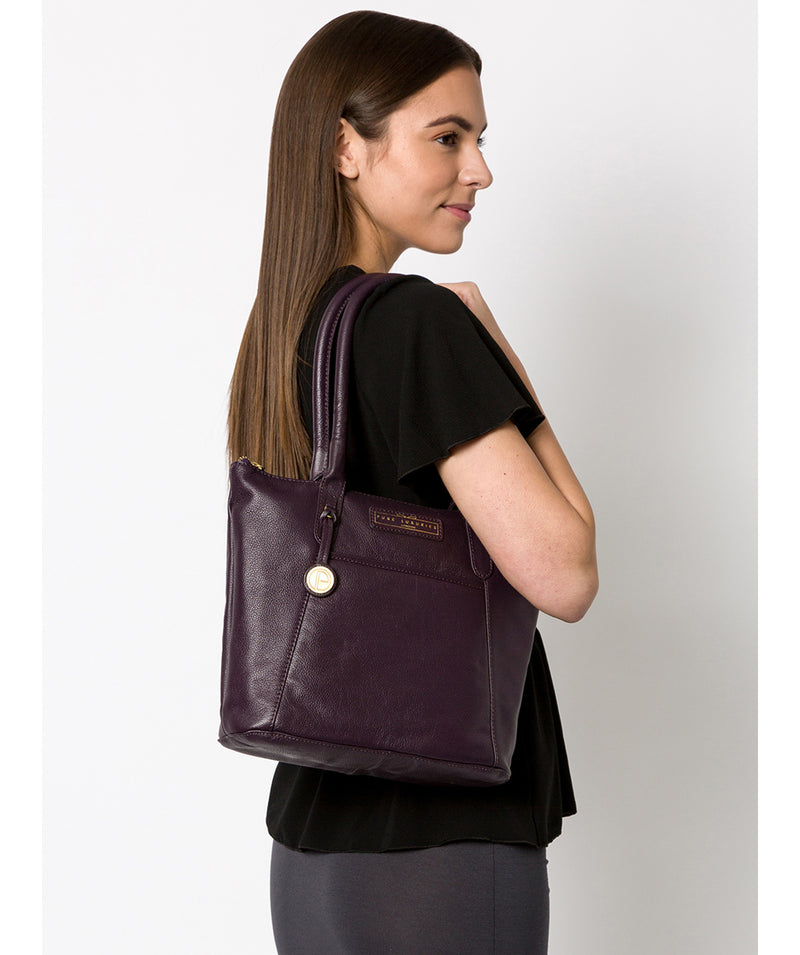 'Arundel' Plum Leather Handbag image 2