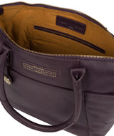 'Bloomsbury' Plum Leather Tote Bag image 4