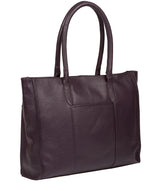 'Bloomsbury' Plum Leather Tote Bag image 5