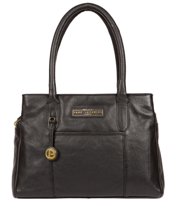 'Goldbourne' Black & Gold Leather Handbag image 1