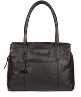 'Goldbourne' Black & Silver Leather Handbag image 1
