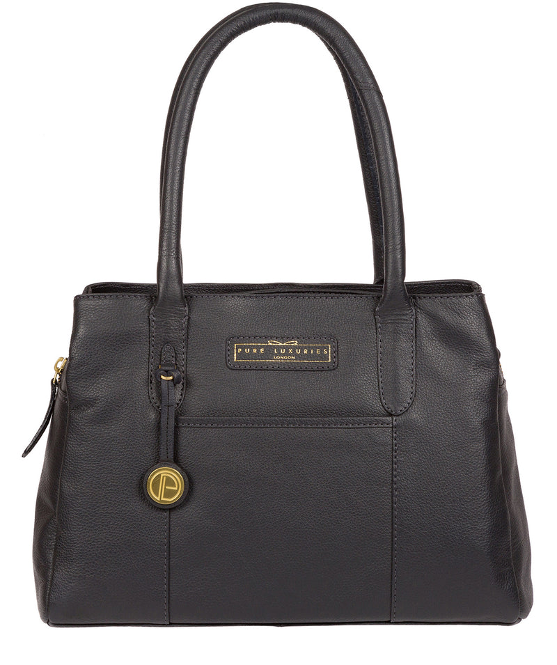 'Goldbourne' Navy Leather Handbag image 1