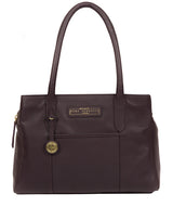'Goldbourne' Plum Leather Handbag image 1