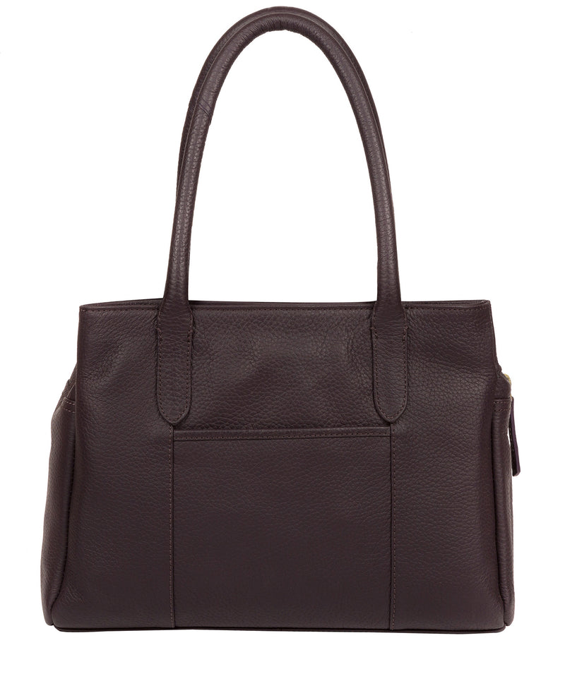 'Goldbourne' Plum Leather Handbag image 3