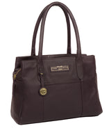 'Goldbourne' Plum Leather Handbag image 5