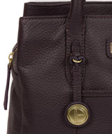 'Goldbourne' Plum Leather Handbag image 6