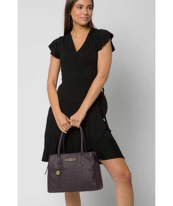'Goldbourne' Plum Leather Handbag image 2