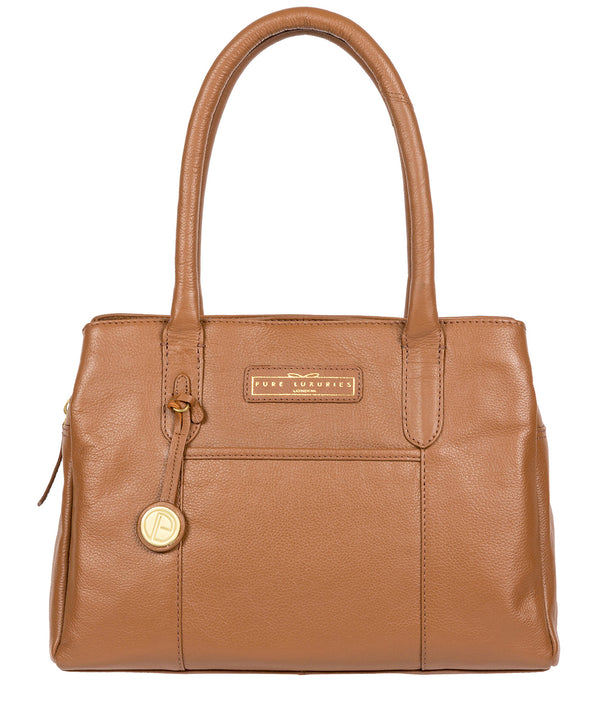 'Goldbourne' Tan Leather Handbag image 1