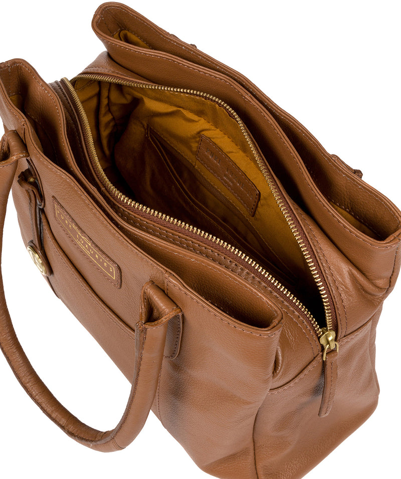 'Goldbourne' Tan Leather Handbag image 4