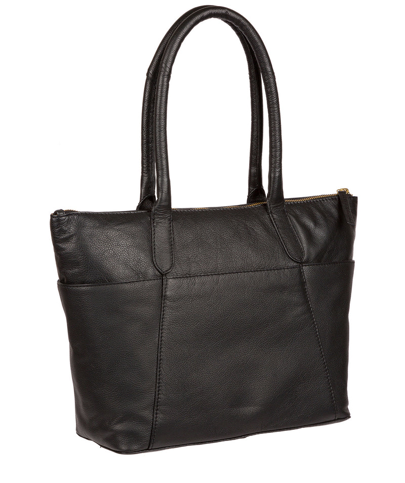'Holne' Black & Gold Leather Tote Bag image 3