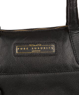 'Holne' Black & Gold Leather Tote Bag image 5