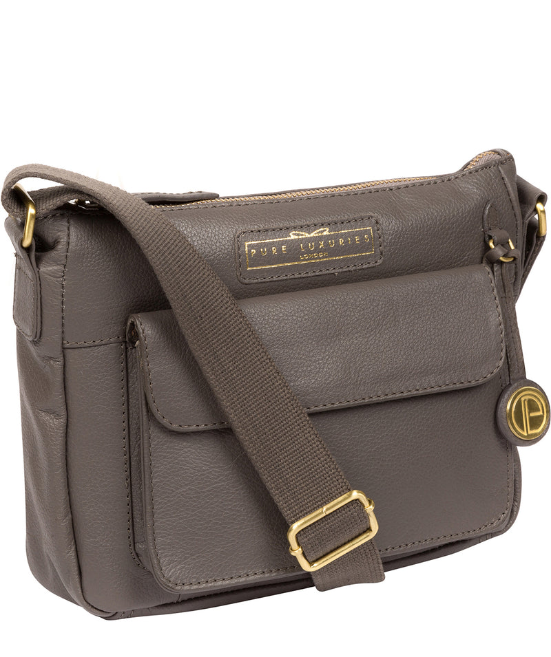 'Colton' Grey Leather Cross Body Bag image 5