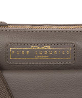 'Colton' Grey Leather Cross Body Bag image 6
