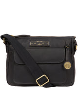 'Colton' Navy Leather Cross Body Bag image 1