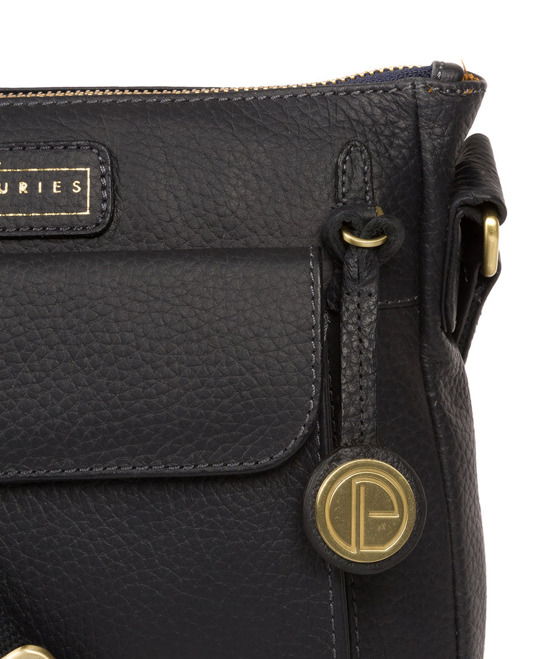 'Colton' Navy Leather Cross Body Bag Pure Luxuries London