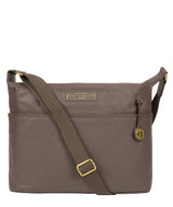 'Hove' Grey Leather Shoulder Bag image 1
