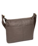 'Hove' Grey Leather Shoulder Bag image 3