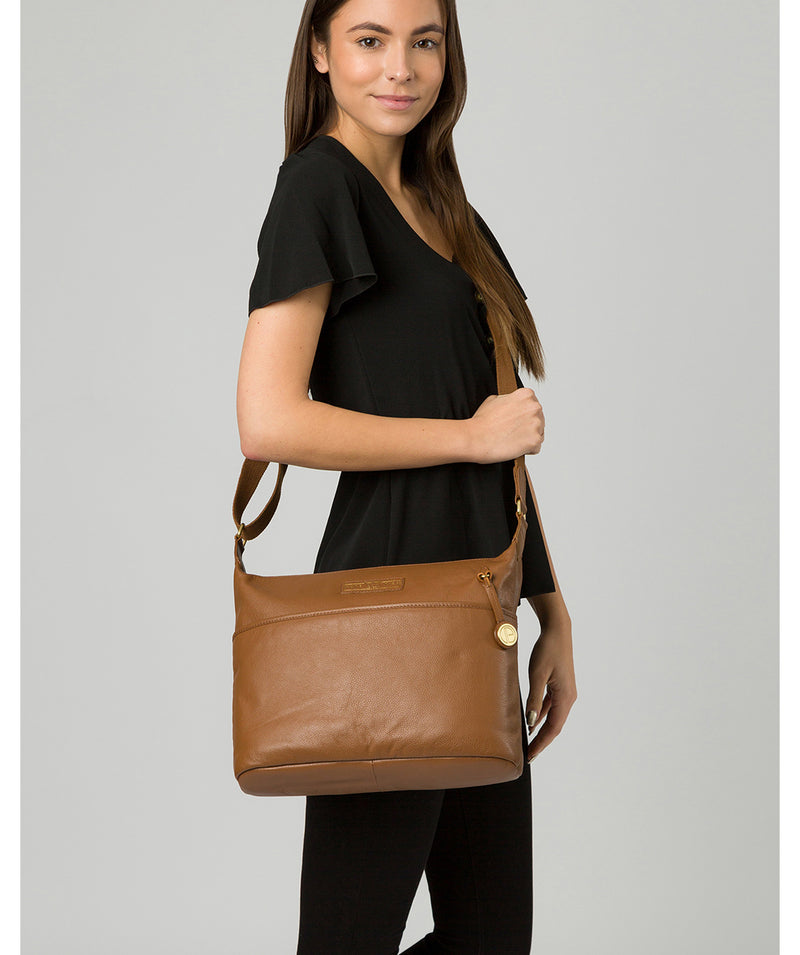 'Hove' Tan Leather Shoulder Bag Pure Luxuries London