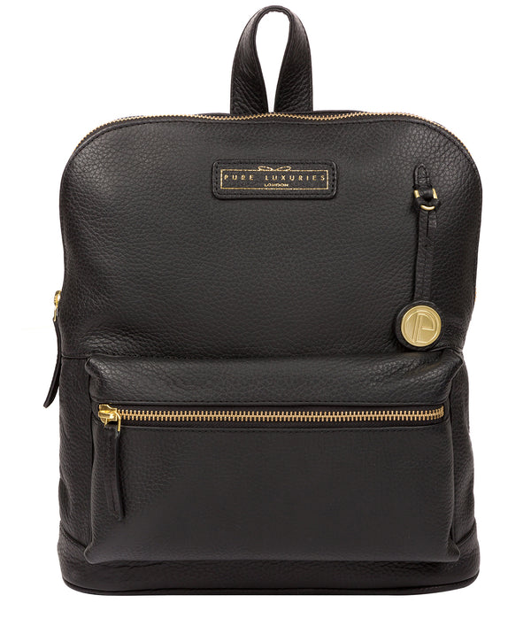 'Corfe' Black & Gold Leather Backpack image 1