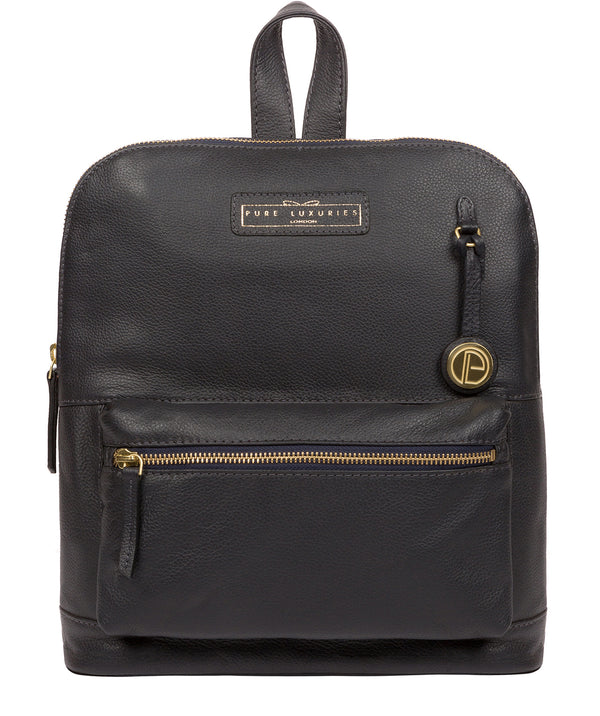 'Corfe' Navy Leather Backpack image 1