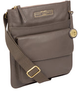 'Tenby' Grey Leather Cross Body Bag image 3