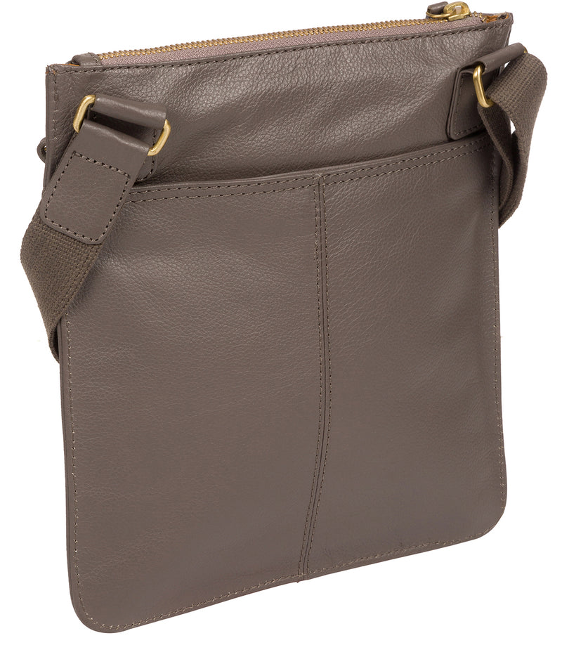 'Tenby' Grey Leather Cross Body Bag image 4