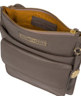 'Tenby' Grey Leather Cross Body Bag image 5