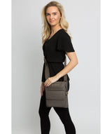 'Tenby' Grey Leather Cross Body Bag image 2