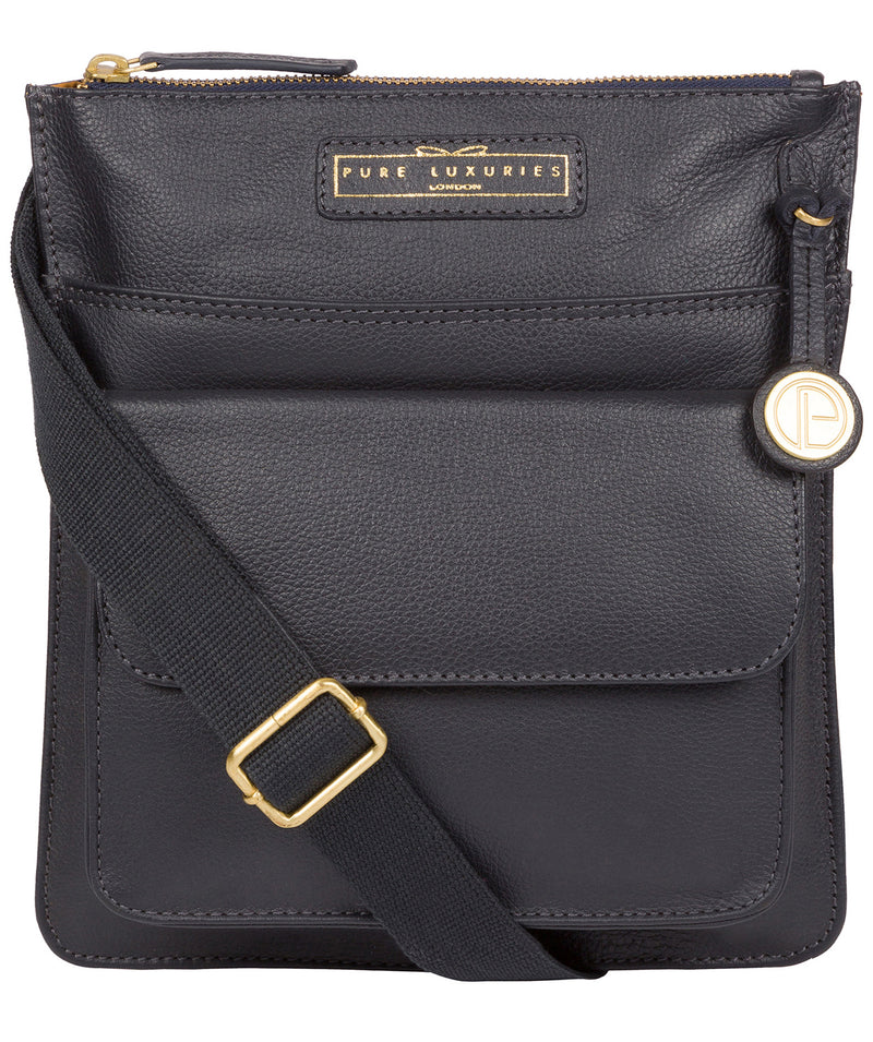 'Tenby' Navy Leather Cross Body Bag image 1