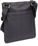 'Tenby' Navy Leather Cross Body Bag image 3