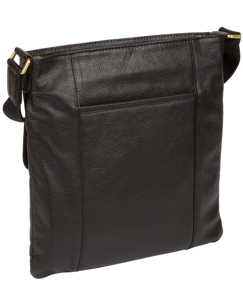 'Barnwell' Black & Gold Leather Cross Body Bag image 3
