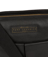 'Barnwell' Black & Gold Leather Cross Body Bag image 5
