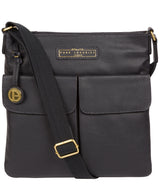 'Barnwell' Navy Leather Cross Body Bag image 1