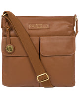 'Barnwell' Tan Leather Cross Body Bag image 1