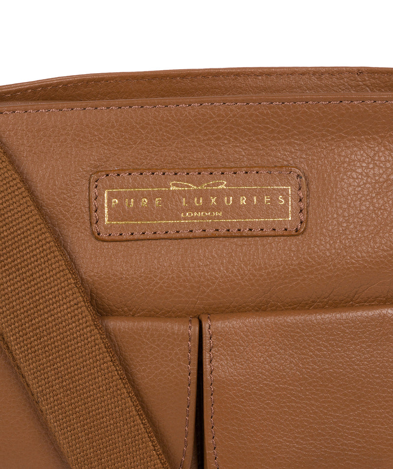 'Barnwell' Tan Leather Cross Body Bag image 5