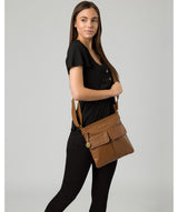 'Barnwell' Tan Leather Cross Body Bag image 2