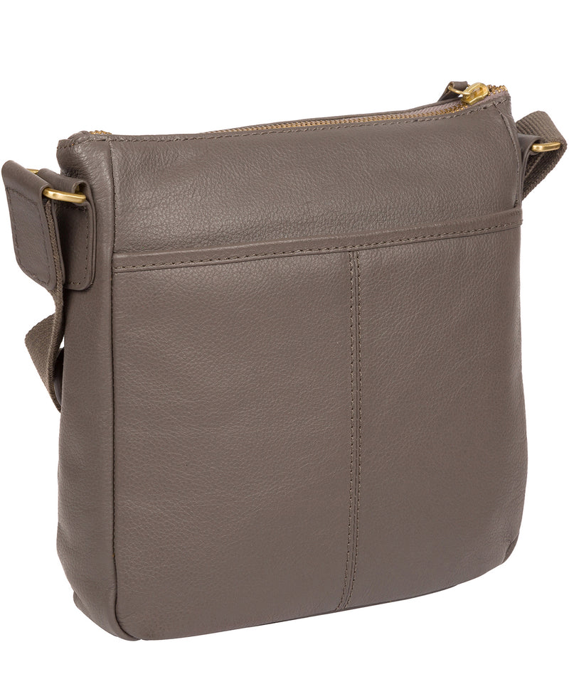 'Mayfield' Grey Leather Cross Body Bag image 4