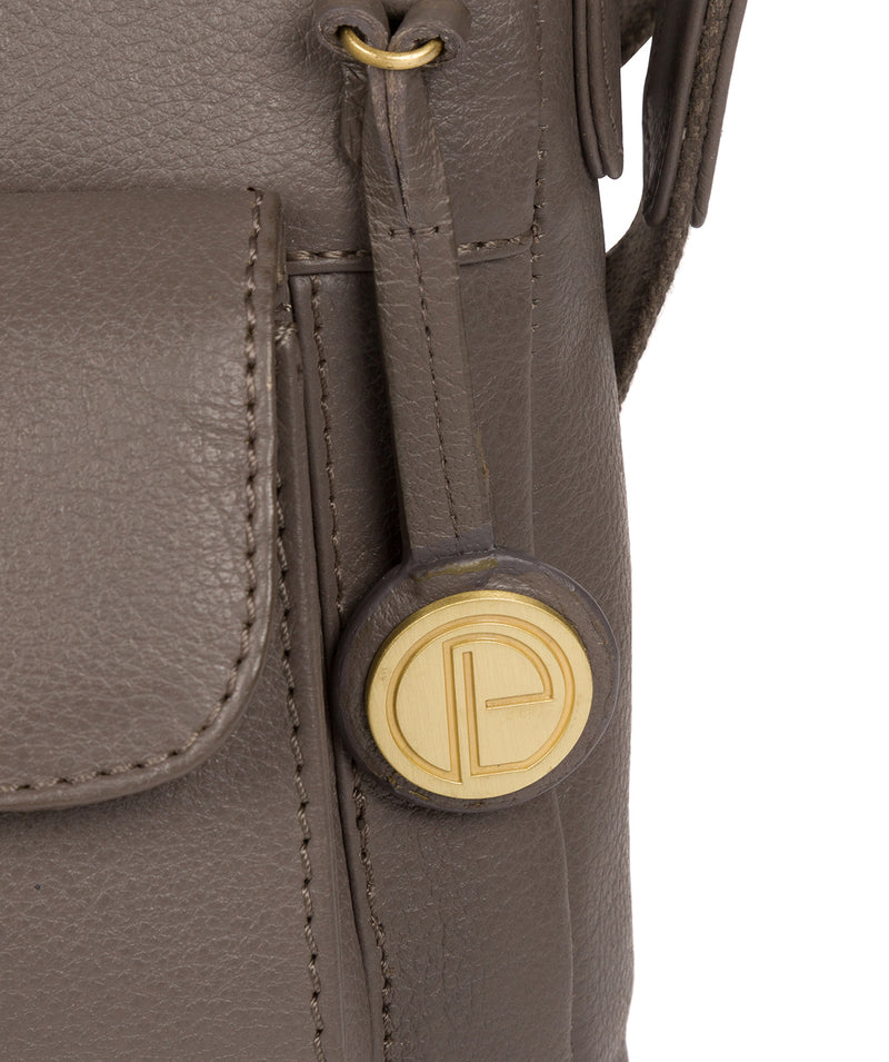'Mayfield' Grey Leather Cross Body Bag image 6