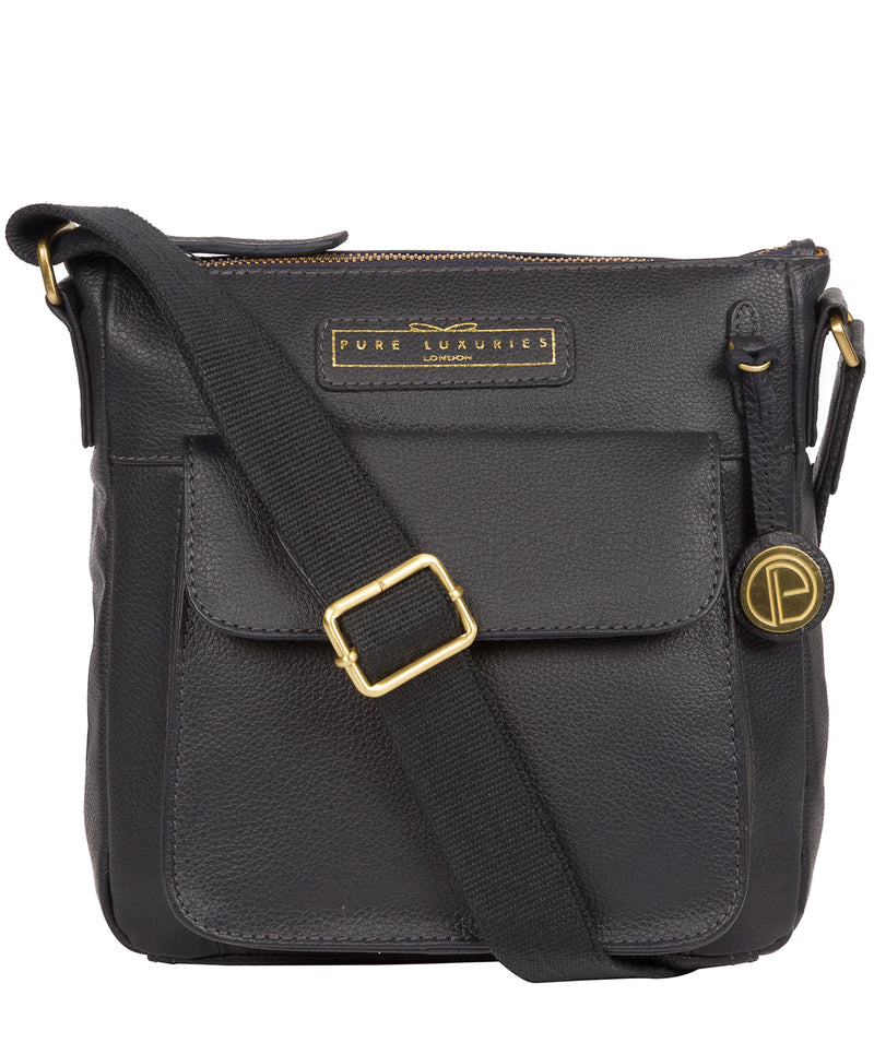 'Mayfield' Navy Leather Cross Body Bag image 1