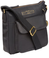 'Mayfield' Navy Leather Cross Body Bag image 3