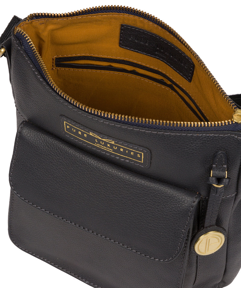 'Mayfield' Navy Leather Cross Body Bag image 5